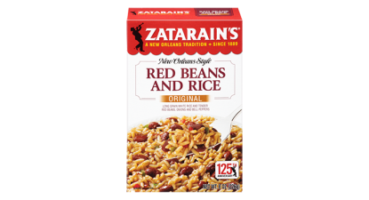 I get the red rice and beans. The black bean is spicy.